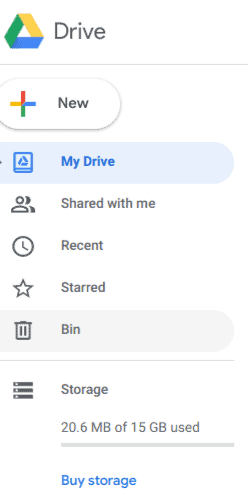 See Google Drive brand image then dashboard which you can add in new documents such as Google documents