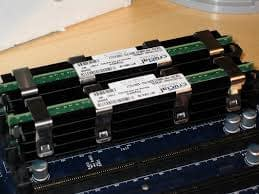 Ram part of computer on a wooden table
