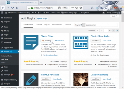 Wordpress plugin finder from the Wordpress plugin search part of Wordpress