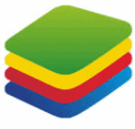 Bluestacks.com brand image showing greent then yellow then red then blue colours stacked together kind of like apps stacked one after another here